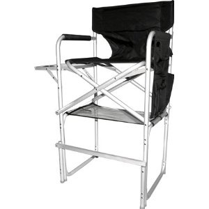 stylish camping ch1310 tall director chair with full back heavyduty folding chair with - Tall Directors Chair