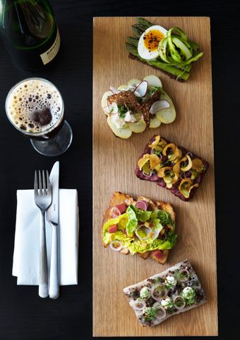 Aamanns in Copenhagen is meant to be one of the best for smorrebrod (open sandwiches - £5.80 for one) menu. Its situated around the corner from the National Gallery of Copenhagen on Øster Farimagsgade 10.