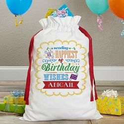 Personalized Birthday Canvas Gift Bag