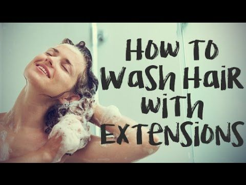 How to Wash Fusion, Weft, Tape, & Micro Ring Hair Extensions | Instant B...