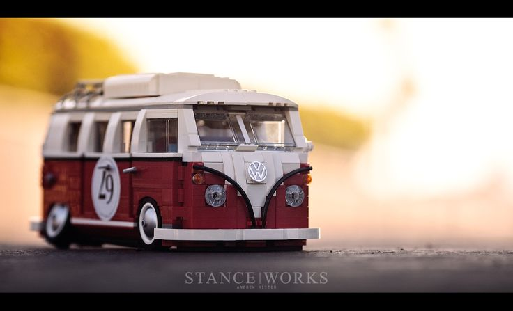 VW bus by Lego, as photographed by StanceWorks