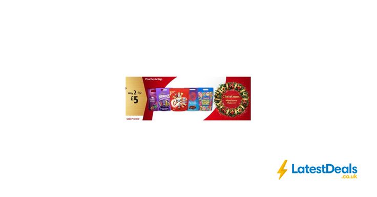 Heroes,Roses,Quality Street, Caramel Pouches 2 for £5 Online and Instore at Morrisons