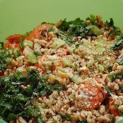 Salade de lentilles aux noix et à la menthe
