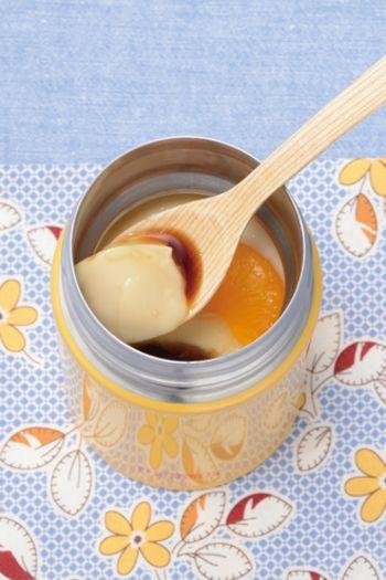 スープジャーの保冷効果をつかって固める和スイーツ。豆乳でつくるのでとってもヘルシーです。