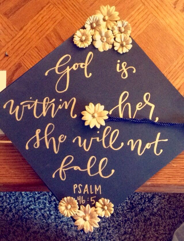 Psalm 46:5 Graduation Cap