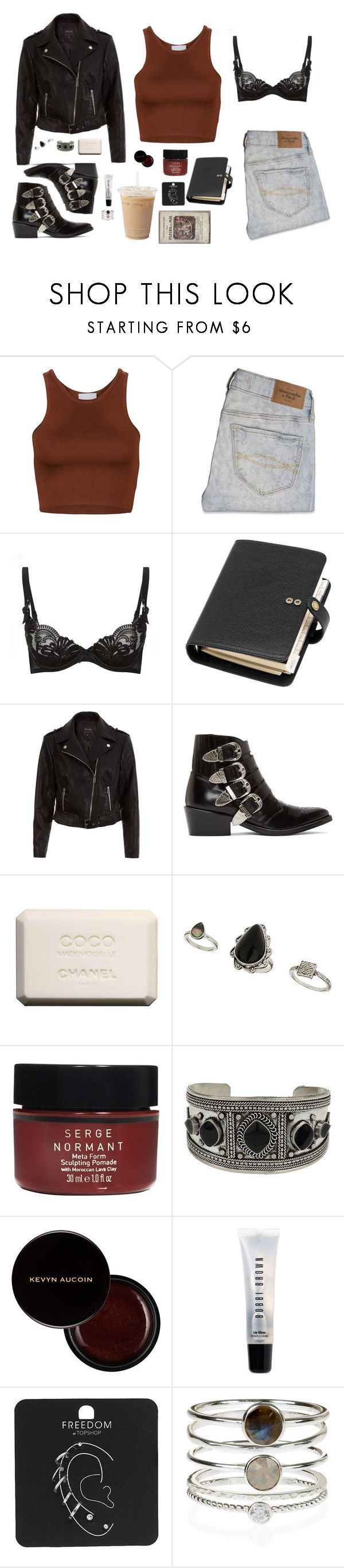 """""""2nd day"""" by feelin-q ❤ liked on Polyvore featuring Abercrombie & Fitch, Agent Provocateur, Mulberry, New Look, Toga, Chanel, Topshop, Serge Normant, Kevyn Aucoin and Bobbi Brown Cosmetics"""