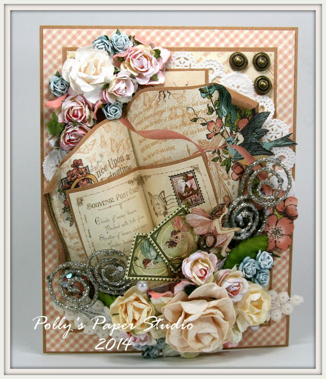 Once Upon a Springtime card by Ginny Nemchak! What gorgeous layering #graphic45 #cards