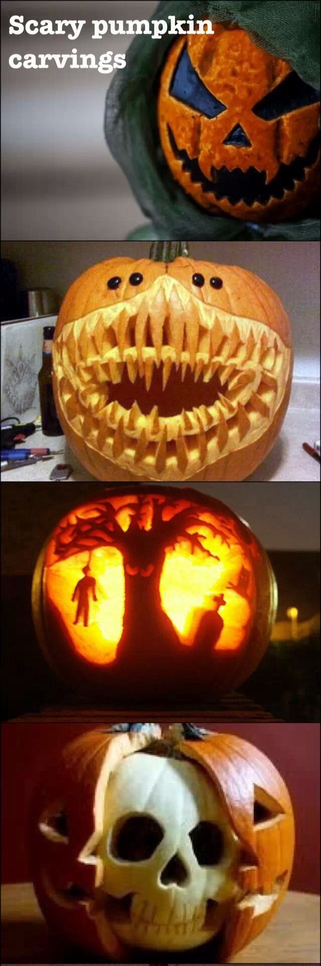 The 25+ best Scary pumpkin carving ideas on Pinterest | Pumpkin ...