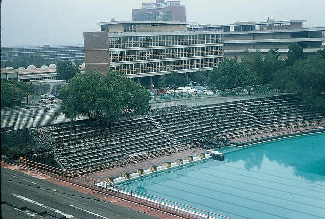 Olympic swimming pool, UNAM, December 1958 by lreed76