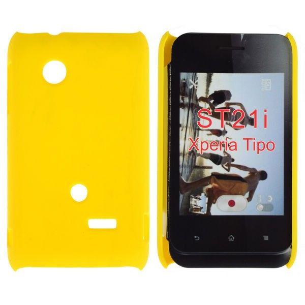 Hard Shell (Gul) Sony Xperia Tipo Deksel