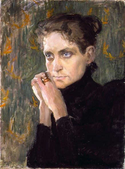 Akselli Gallen-Kallela (finnish, 1865-1931), portrait of actress Ida Aalberg, 1893