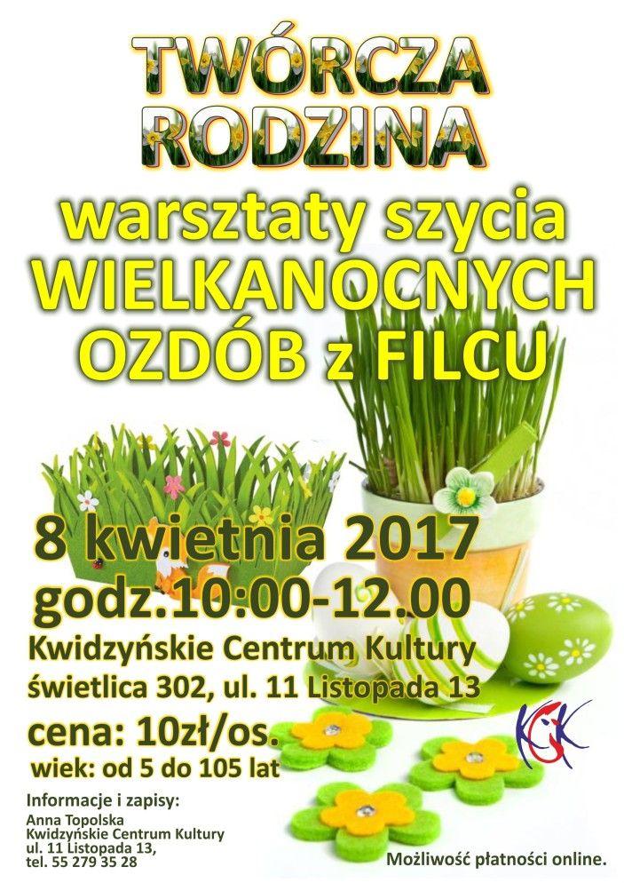 Warsztaty szycia ozdób Wielkanocnych, 8.04.2017 r.