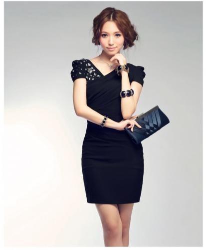 パーティードレス・二次会ドレス通販専門店DressCode(ドレスコード) / 肩ビジュー付きパーティードレス