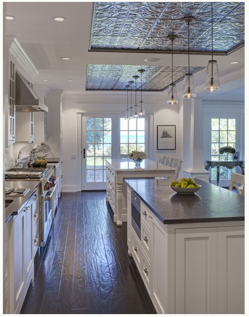 tray ceiling with stamped tile - by Jane Kelly, Designer for Airoom LLC