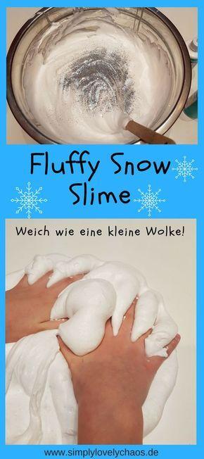 Hier erfährst du, wie du ganz einfach den perfekten Fluffy Slime und Fluffy Snow Slime machen kannst. Eine kinderleichte Anleitung mit genauen Angaben. DIY für Kinder und Teenies.