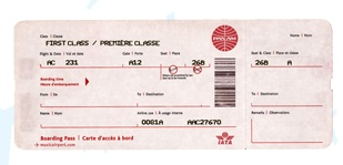 Create a fake plane ticket to give as a gift- very cool! I am using this to surprise the kids!