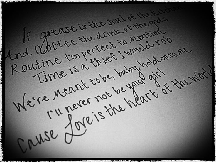 Lady Antebellum ' The heart of the world' Time is a thief I would rob Can't get enough of this song. Such a sweet message.