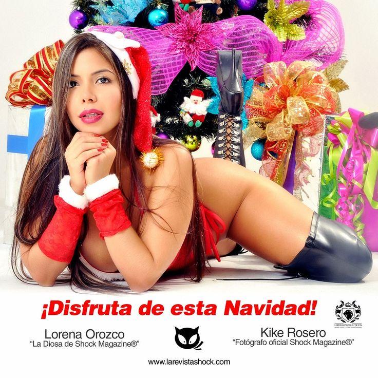 """Disfruta de esta Navidad con los tuyos! @shockeate Lorena Orozco """"la Diosa de Shock"""". Foto: Kike Rosero http://www.larevistashock.com"""