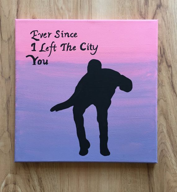 Nothing is better than Drake dancing. This 12x12 acrylic painting on stretched canvas features a silhouette of Drake doing one of his signature moves