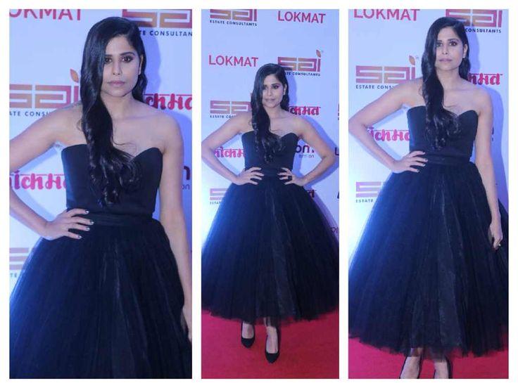 Sai Tamhankar Stills At Lokmat Maharastra Most Stylish Awards 2017