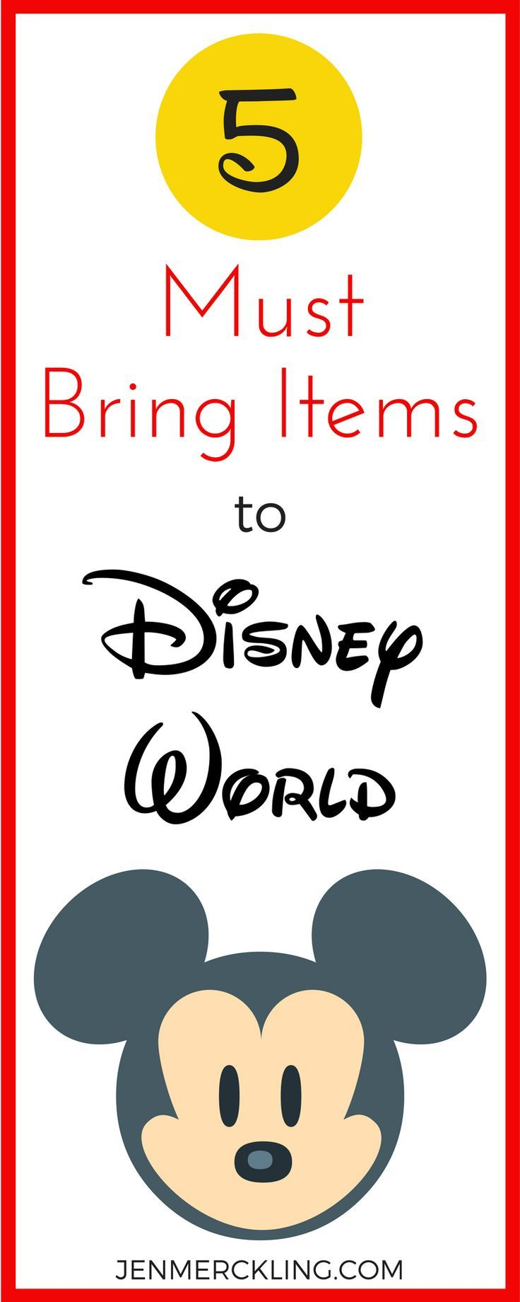 Perfect advice for must have items on your Disney trip!