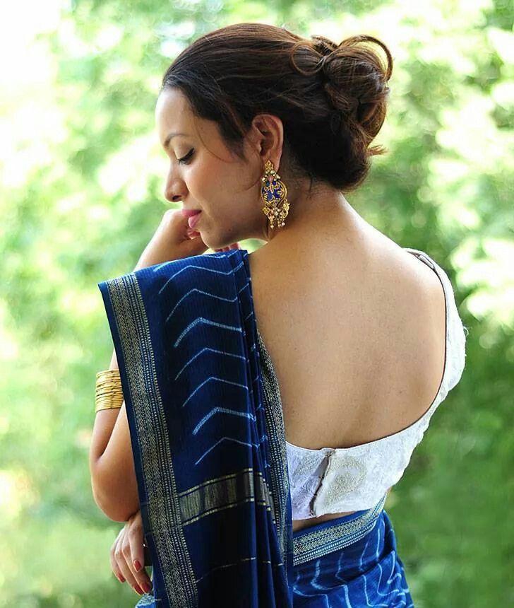 a2f9ab14be2b6 Shibori dyed Tussar silk saree
