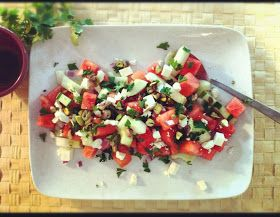 Whisk & Wit: {summer} watermelon, feta & mint salad
