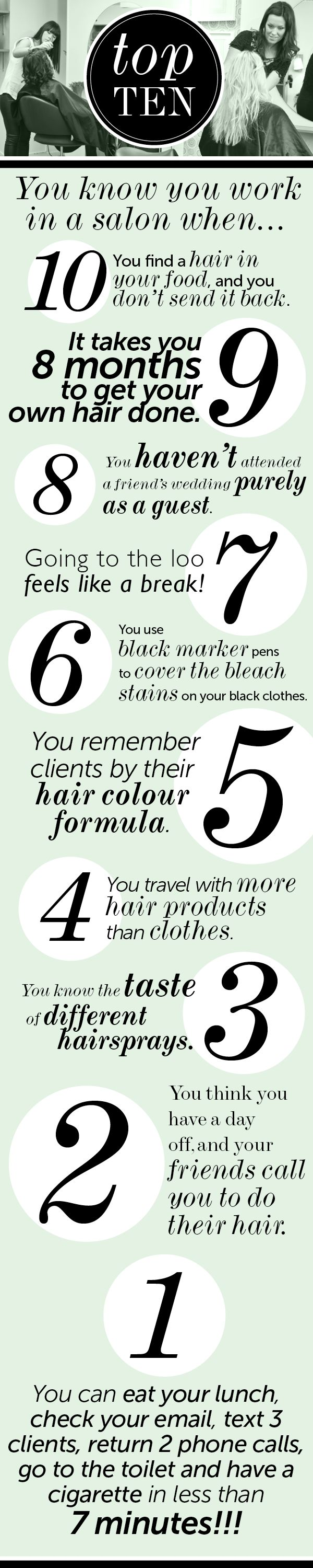 You Know You Work in a Salon When.... - Salons Direct