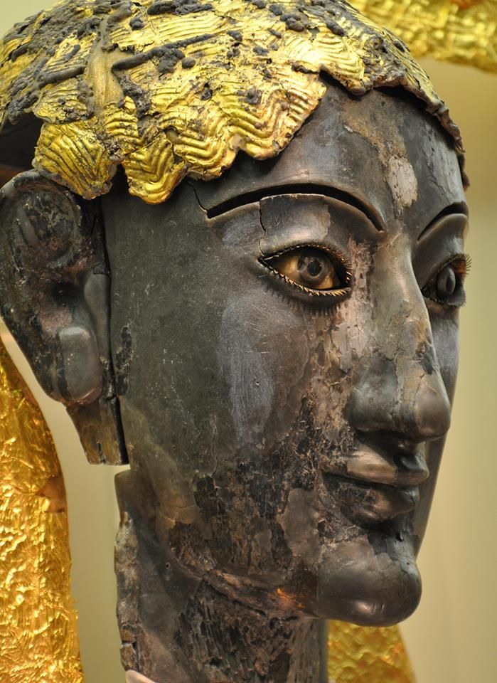 Archaic chryselephantine (which means made of gold and ivory) statue thought to…