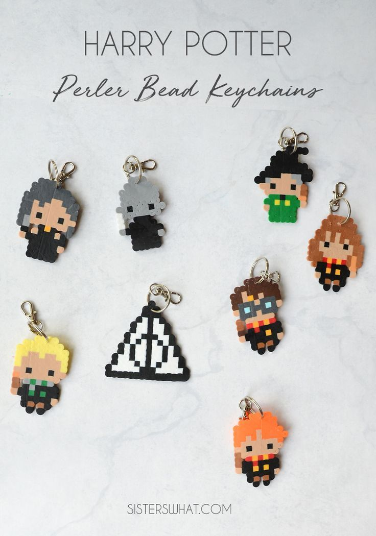 Harry Potter Keychain And Magnet Perler Beads Etsy Harry Potter Perler Beads Harry Potter Keychain Perler Bead Patterns
