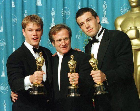 Matt Damon, Robin Williams & Ben Affleck for 'Good Will Hunting' in 1998