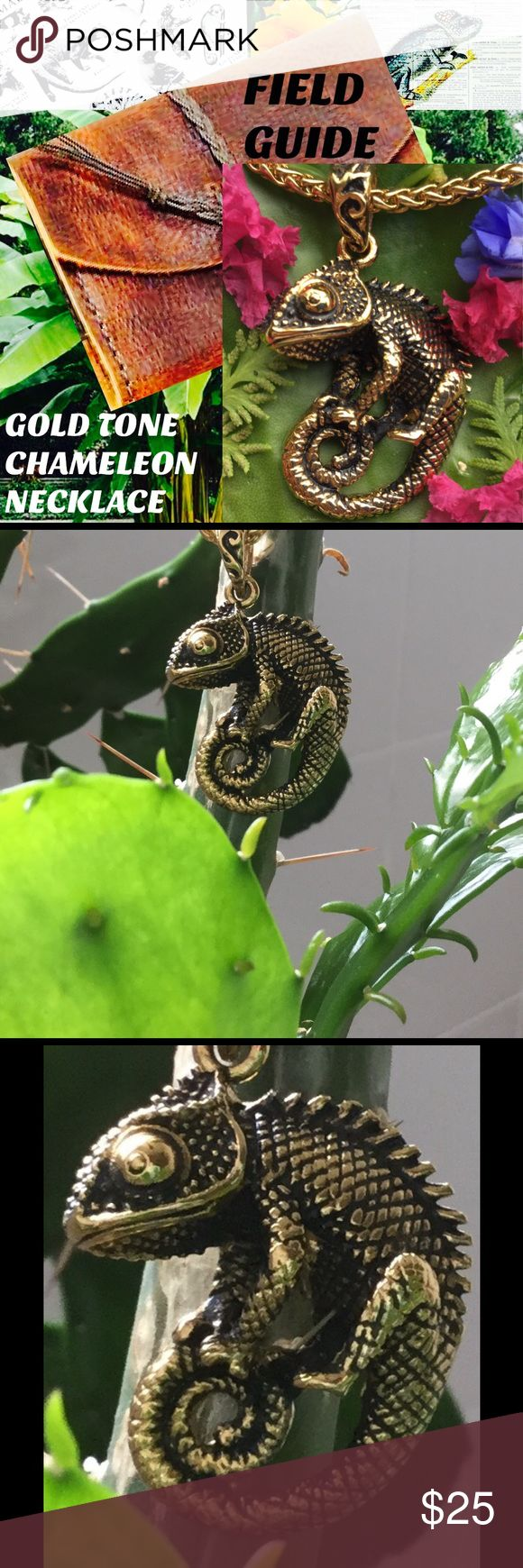 25 amazing chameleon pictures - Gold Plated Chameleon Lizard Necklace 20 2 Ext Nwt