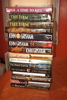 John Grisham - I think I've either read the book, listened to the audio, or seen the movie of every one. Have The Confession to read now.
