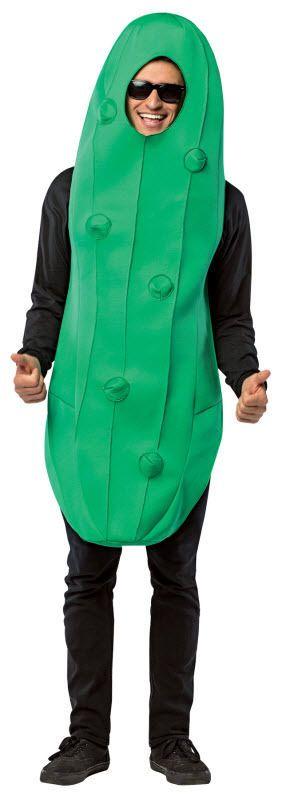 Adult Pickle Costume Green Mascot Jumpsuit Kosher Dill Womens Mens Unisex NEW…