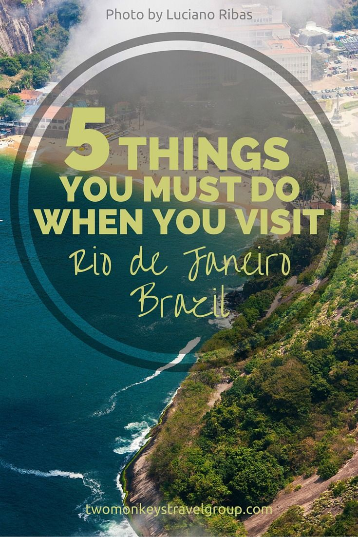 Things you must do when you visit Rio de Janeiro, Brazil. The second largest city in Brazil served as the country's capital until 1960s. Portuguese is the main language used in this vibrant city. This is where the iconic Cristo Redentor can be seen.