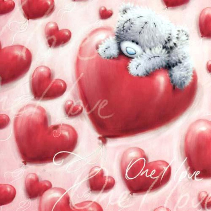 One I Love Valentines Me to You Bear Card