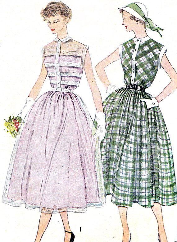1950s Dress Pattern Simplicity 3252 Full Skirt by paneenjerez, $25.00