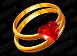 hartvormige diamant gouden ring vector materiaal