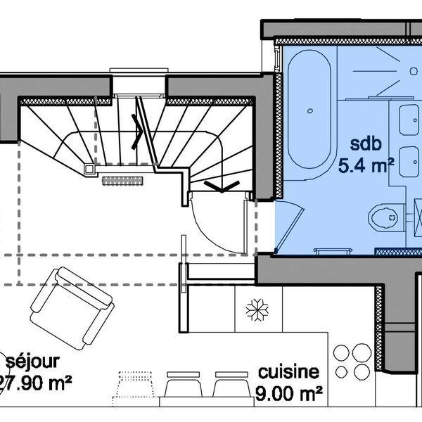 Die besten 25 badezimmer 8m2 ideen auf pinterest badezimmer 8m2 planen heizung und toilette - Plan sdb m ...