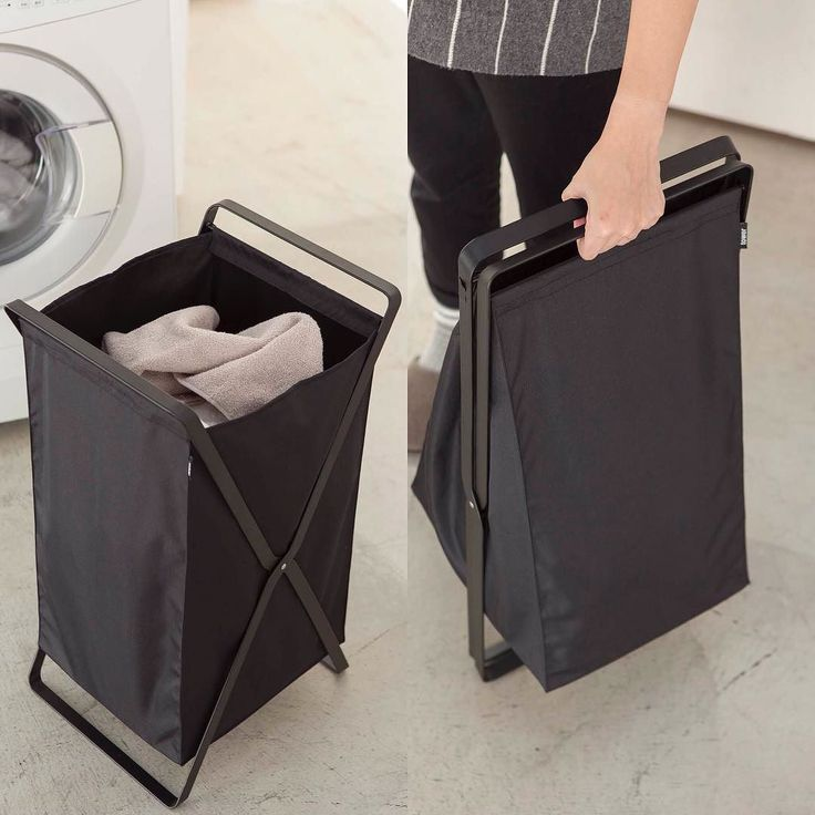 It's compact foldable and handy!! Comes in White as well. Tower Laundry Hamper  #yamazakihome #tower #modern #bathroom #laundry #laundryroom #laundrybasket #laundryhamper #homedecor #interiordesign #japanesedesign