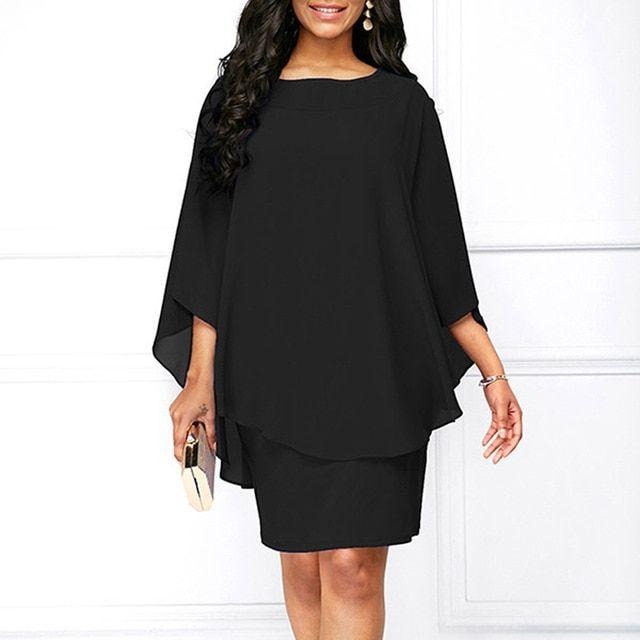 Women mini dress summer solid color oneck casual loose plus size dresses vestidos casual beach dress 7