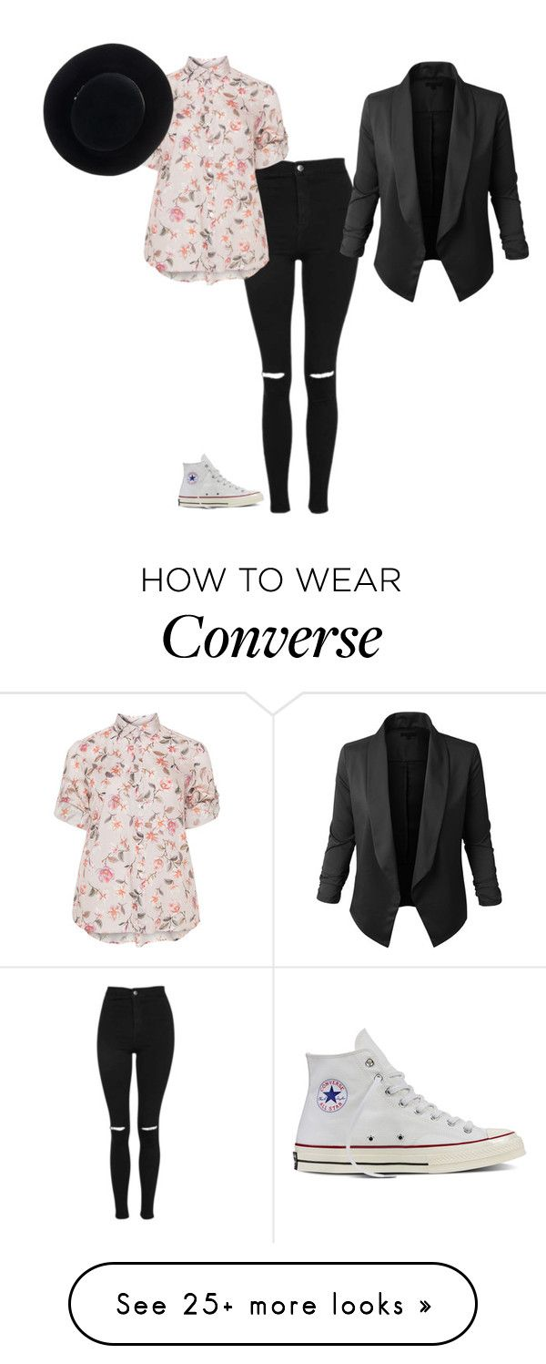 """""""Floral shirt"""" by the-story-untold on Polyvore featuring Converse, Topshop, Eterna and Eugenia Kim"""