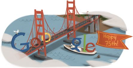 Google Doodle: Golden Gate Bridge