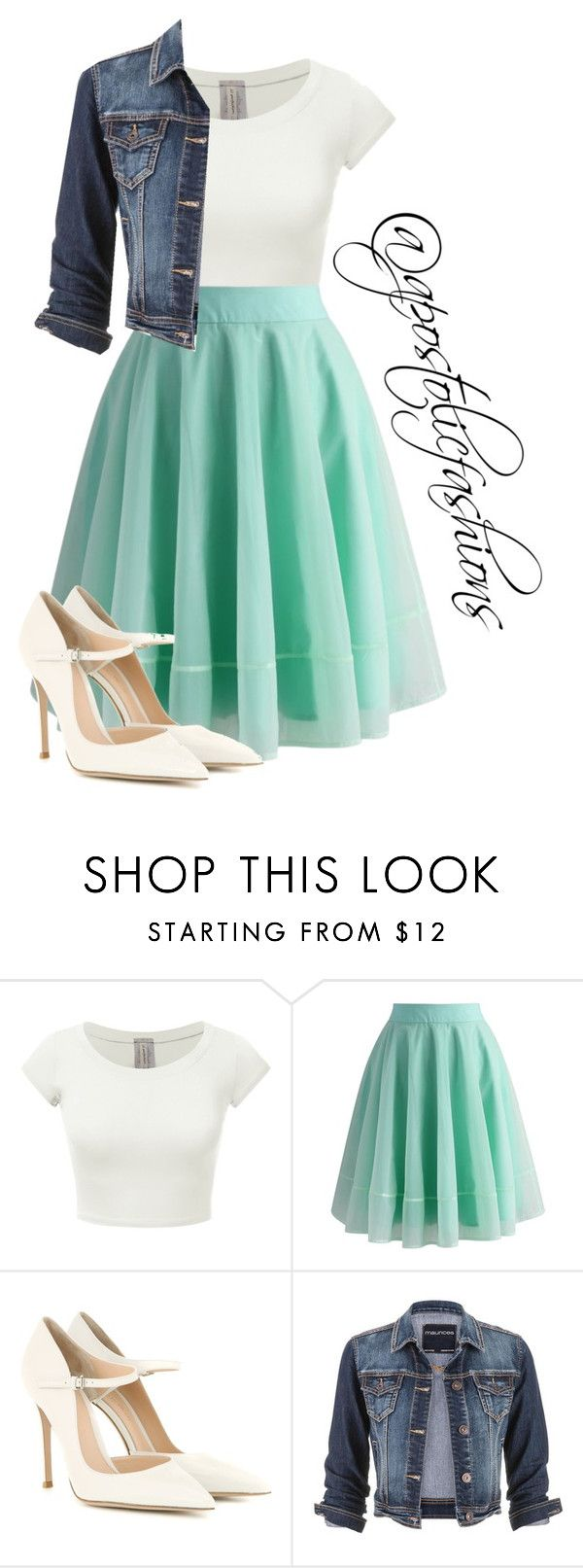 """Apostolic Fashions #1359"" by apostolicfashions on Polyvore featuring Chicwish, Gianvito Rossi and maurices"