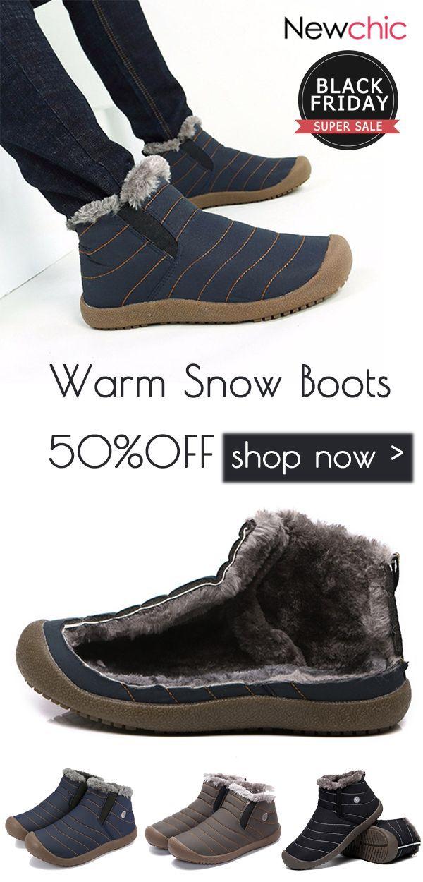 50%off]Men Large Size Warm Fur Lining