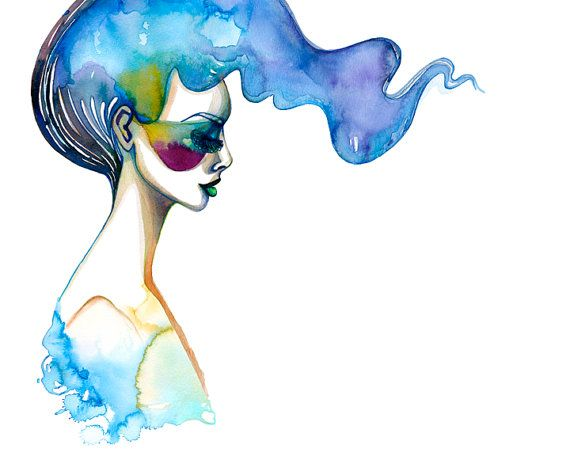 PRINT / Ondine Sing Me A Song / blue water nymph by BellaAndBunny