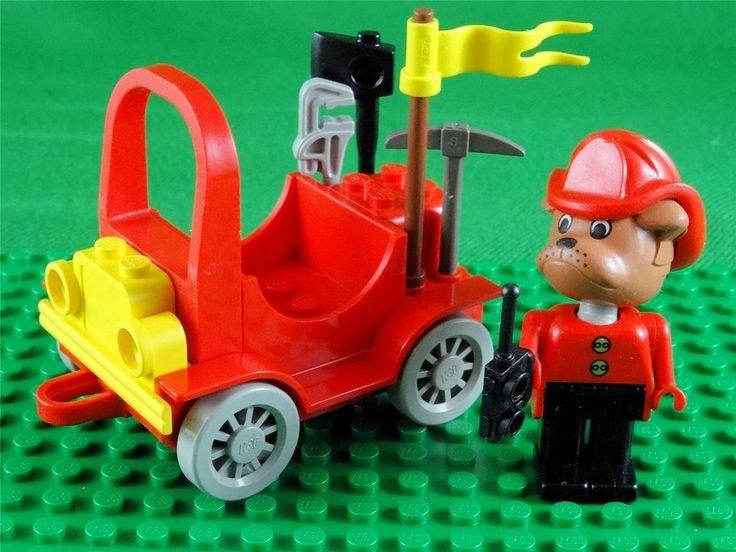 Vintage 1987 Lego Fabuland set 3797 - BARTY BULLDOG FIRECHIEF & HIS CAR + Extras