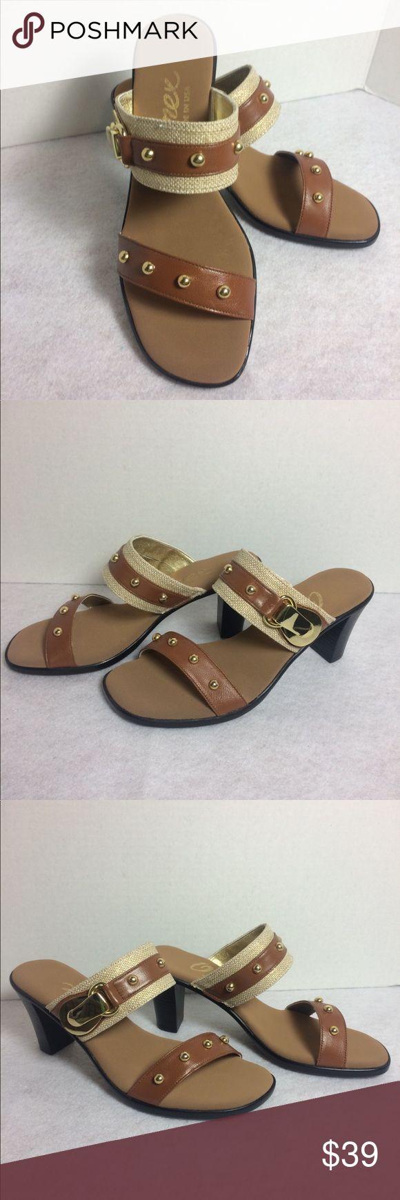 👡 Onex Tan slip on heals size 6 NIB 👡 Onex Tan slip on heals size 6 NEW! With box! Never worn! Onex Shoes Heels