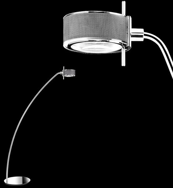 #componi200lettura: Freestanding reading lamp. With push-button or radio-controlled electronic dimmer.