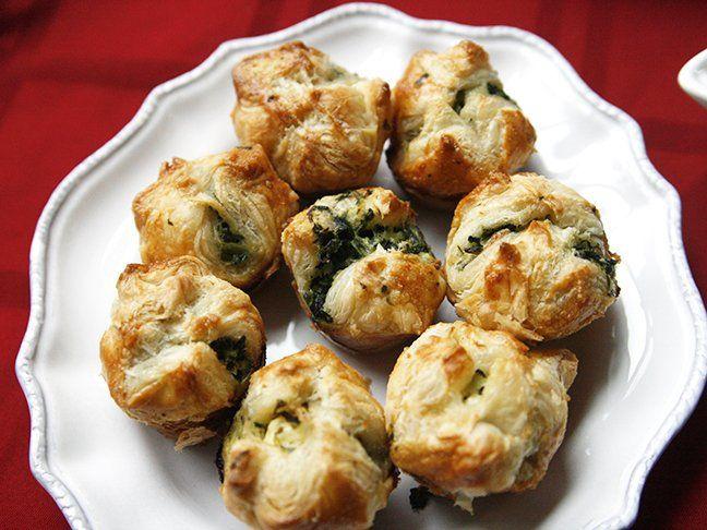 Make Ahead Spinach And Cheese Puffs Recipe Spinach And Cheese Cheese Puffs Individual Appetizers